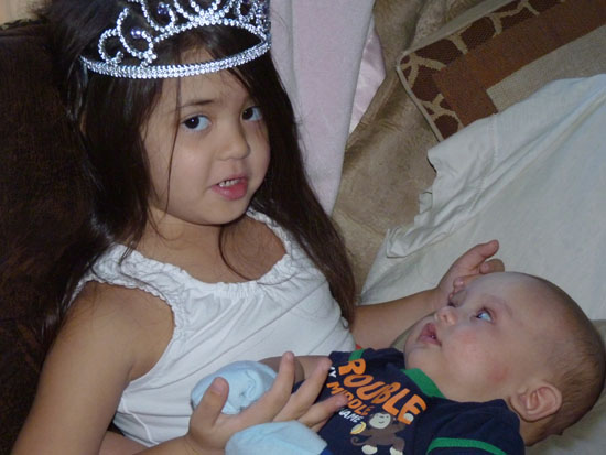 Princess Yaya and her little brother