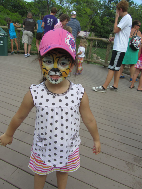 Yaya transformed into a tiger!