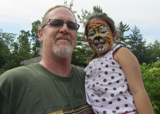 Happy Tiger and her Papa