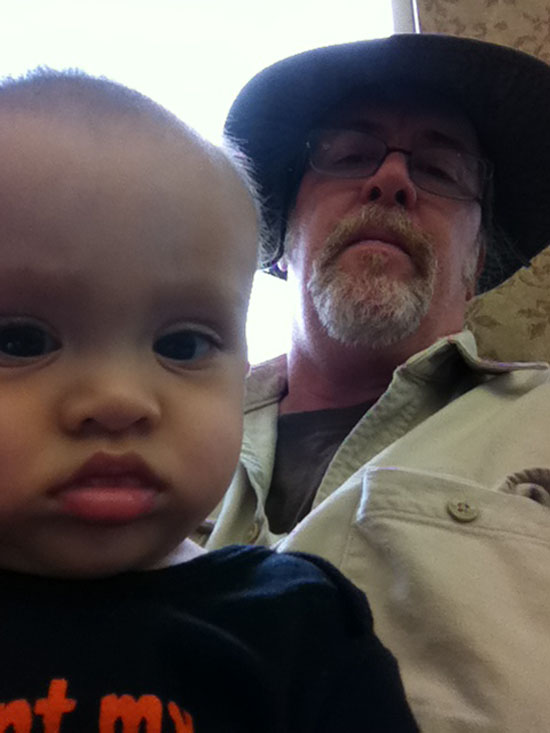 Papa and Adik wait in the waiting room