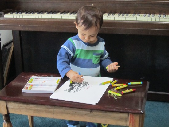 Busy boy - another artist in the making?