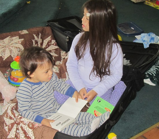 "Reading together during ""circle time"""