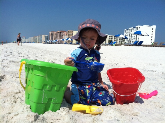 Filling buckets with sand is serious business