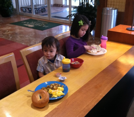 Breakfast at the new ducky hotel