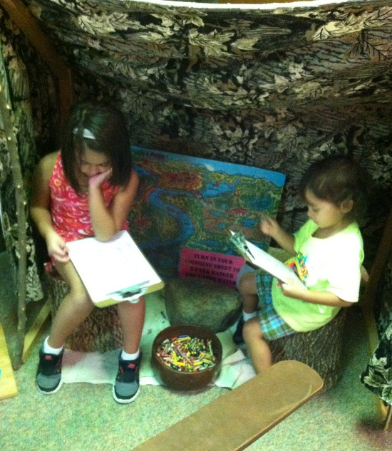 Coloring activities at Caesar Creek Visitor Center
