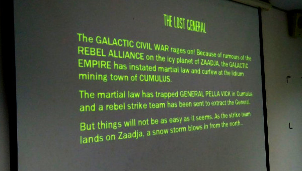 The Star Wars crawl