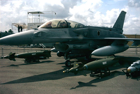 F-16D static display