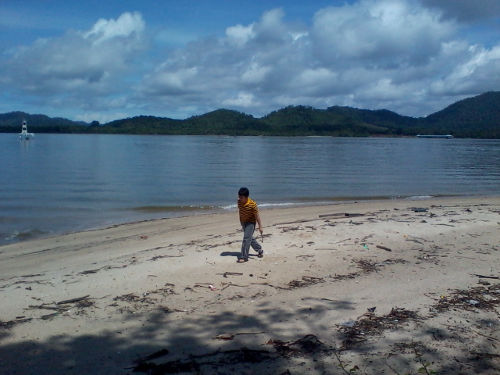 Beachcombing at Lumut