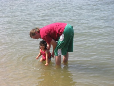 Water baby and her Papa