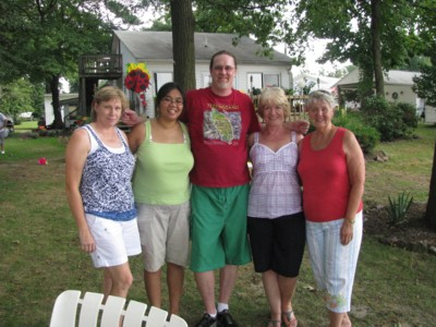 Barb, me, Vin, Jo and Aunt Joan