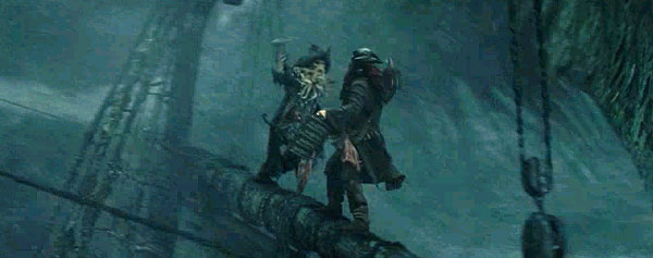 Jack Sparrow vs Davy Jones