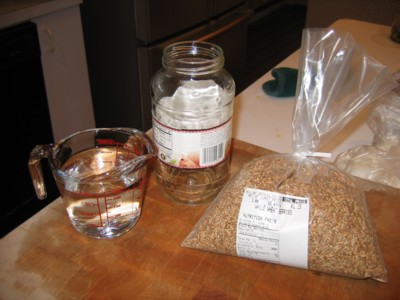 Water, Jar, Wheat berries