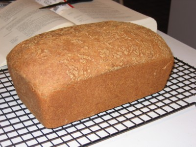 Sprouted Wheat Bread, out of the pan
