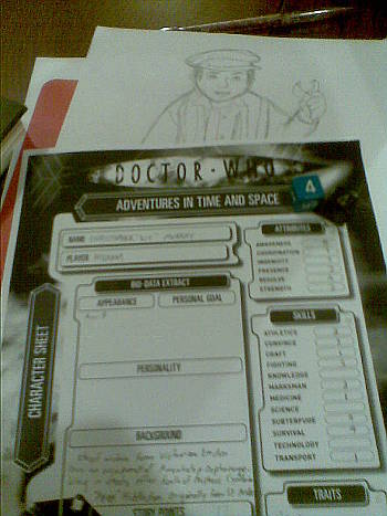 Player sheet and sketch