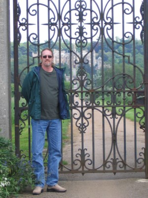 Vin in front of the main gate