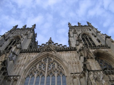 Looking up to the Minster