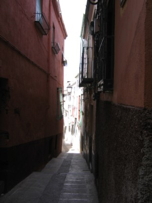 Extremely narrow and hilly streets