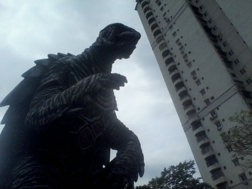 Gamera! It's almost on top of us!