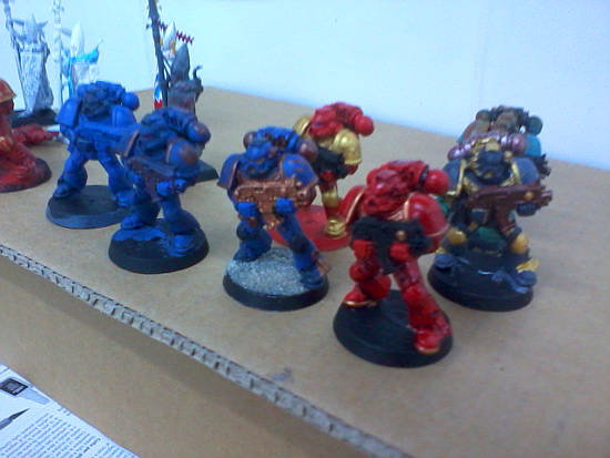 Space Marines drying.