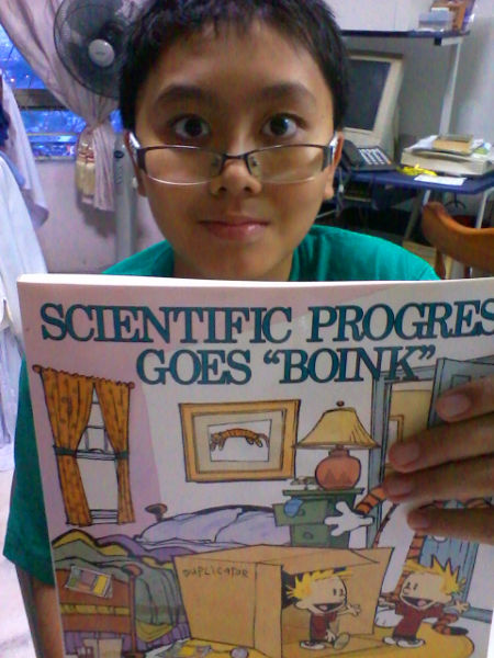 He will learn the scientific method from this book