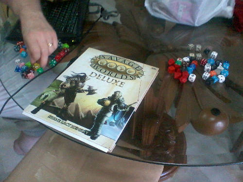Jerry brough his copy of Savage Worlds Deluxe