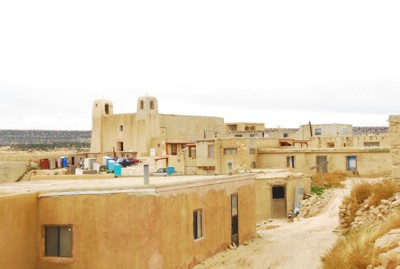 A view of the houses in the pueblo
